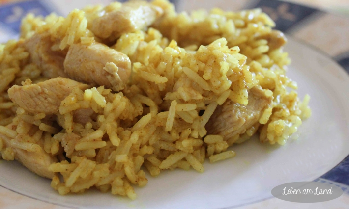 curryreis mit putenfleisch