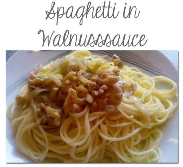 spaghetti in Walnusssauce