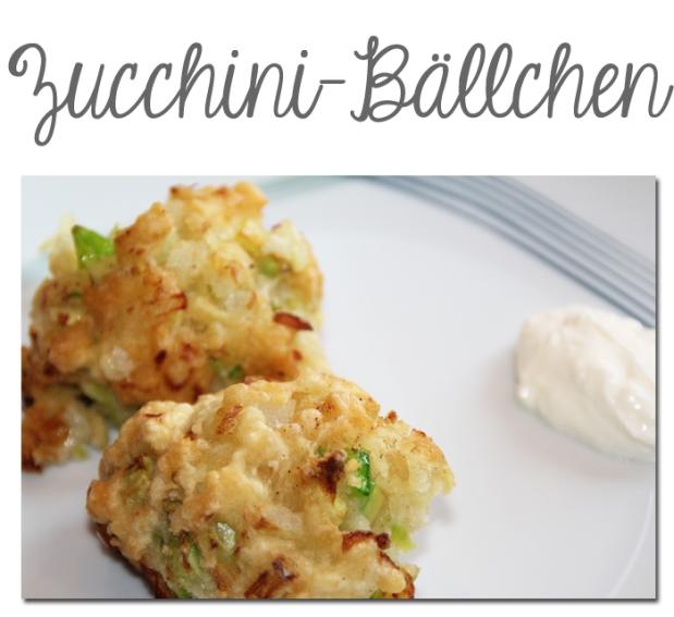 Zucchini-Bälchen