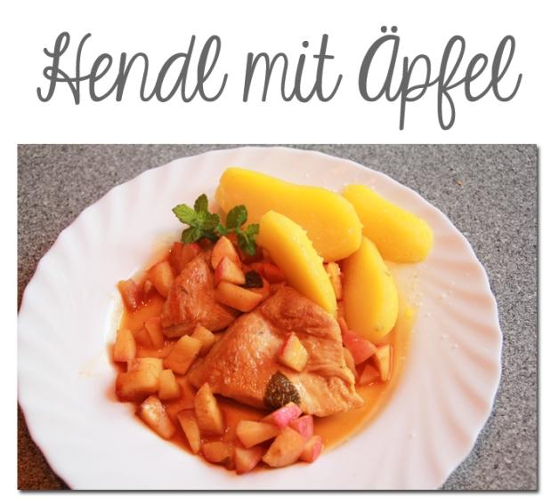Hendl mit Äpfel