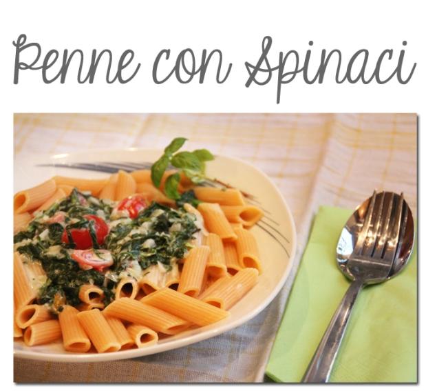 Penne con Spinaci
