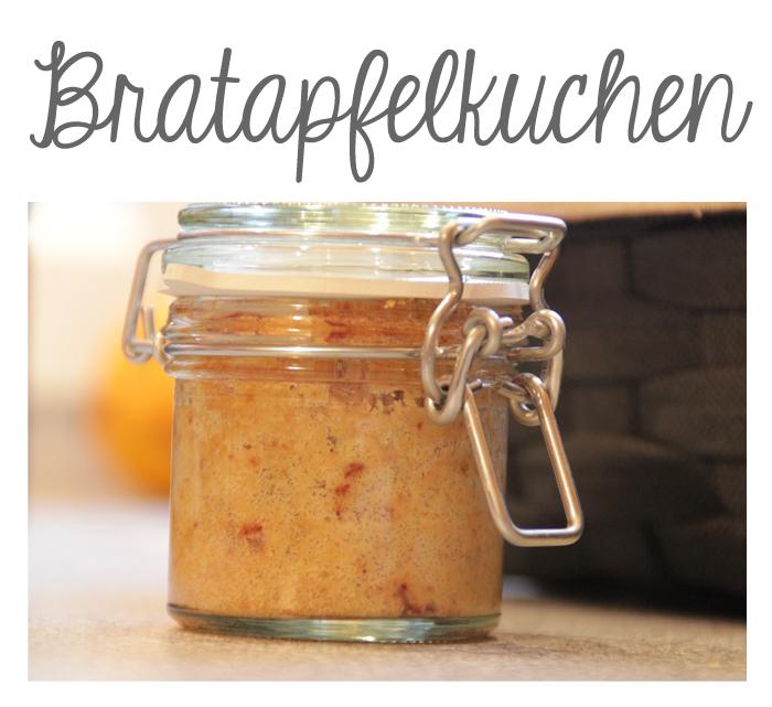 Bratapfelkuchen im Glas